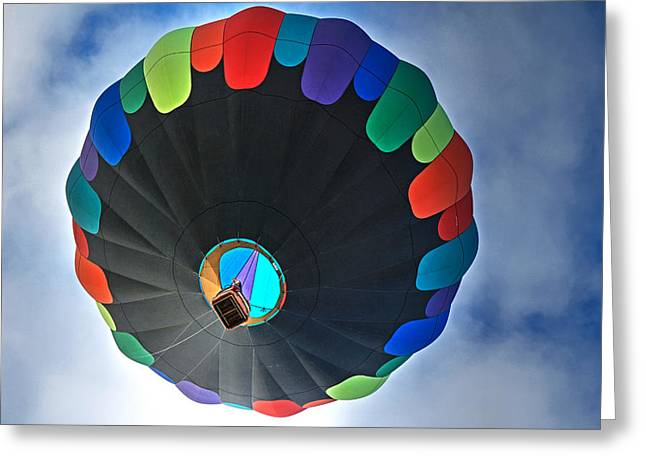 Hot Air Balloon Ride Greeting Cards - Inside Edition Greeting Card by Donna Kennedy