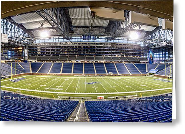 Lions Greeting Cards - Inside Ford Field Greeting Card by John McGraw