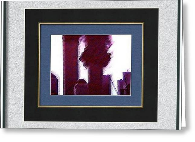 Wtc 11 Mixed Media Greeting Cards - Inside Framed Inside Greeting Card by Kosior