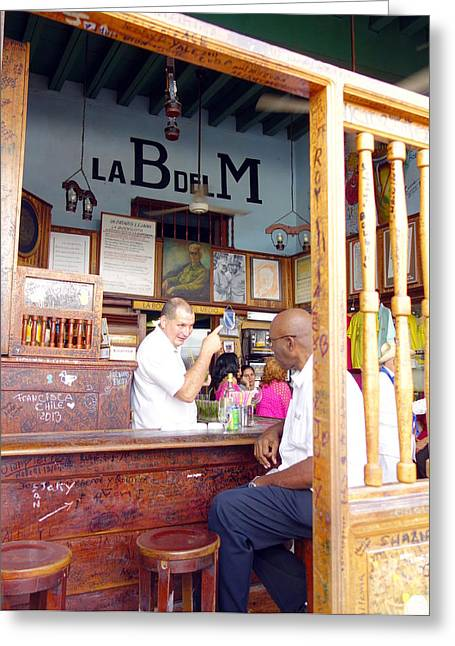 Clients Greeting Cards - Inside La Bodeguita del Medio Greeting Card by Valentino Visentini