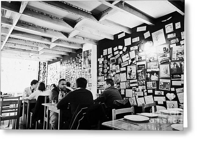 La Luna Greeting Cards - inside la luna restaurant Punta Arenas Chile Greeting Card by Joe Fox