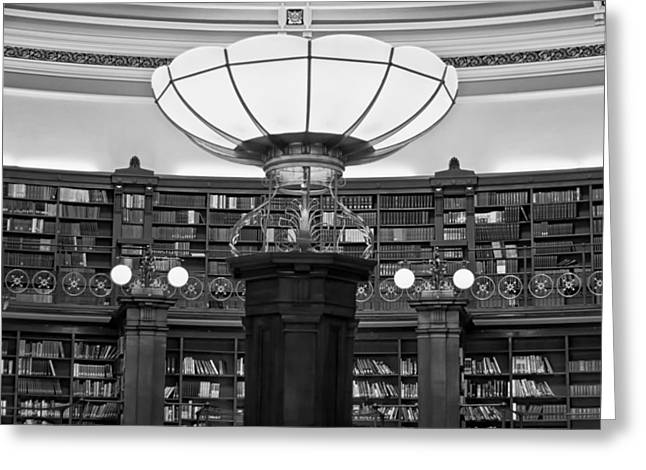 Savant Photographs Greeting Cards - Inside Liverpool Library Greeting Card by Nomad Art And  Design