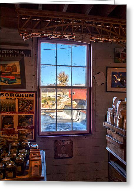 Bridgeton Mill Greeting Cards - Inside Looking Out Greeting Card by Thomas Sellberg