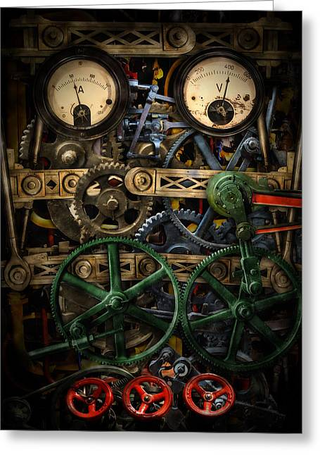 Industrial Background Digital Art Greeting Cards - Inside my phone Greeting Card by Nathan Wright