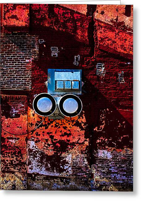 Grunge Greeting Cards - Inside Out Greeting Card by Bob Orsillo