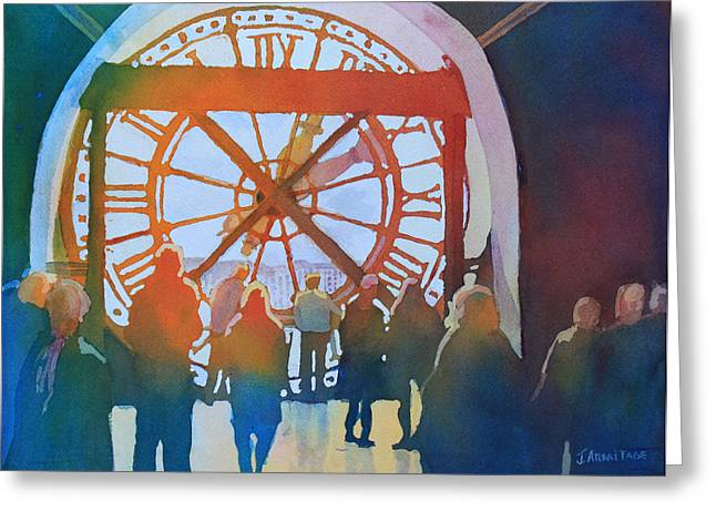 Roman Numeral Greeting Cards - Inside Paris Time Greeting Card by Jenny Armitage
