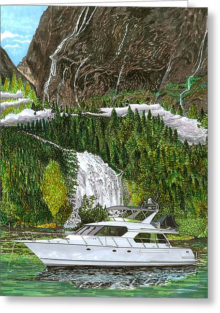 Inside Passage Greeting Cards - Inside Passage time out Greeting Card by Jack Pumphrey