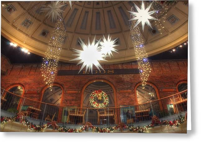Boston Greeting Cards - Inside Quincy Market Card Greeting Card by Joann Vitali