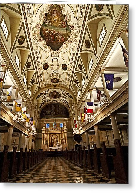 New Orleans Greeting Cards - Inside St. Louis Cathedral Greeting Card by Andy Crawford