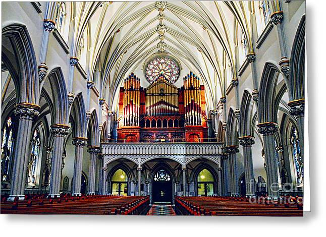 Saint Joseph Greeting Cards - Inside The Cathedral  Greeting Card by Kathleen Struckle