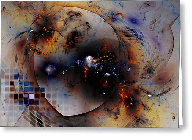 Mind-bending Greeting Cards - Inside the Chaosphere Greeting Card by Jeff Iverson