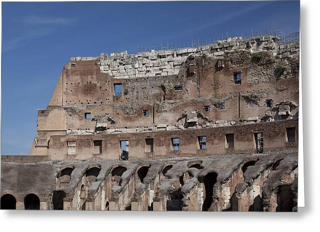 Outdoor Theater Greeting Cards - Inside the Coliseum Greeting Card by Jean Macaluso