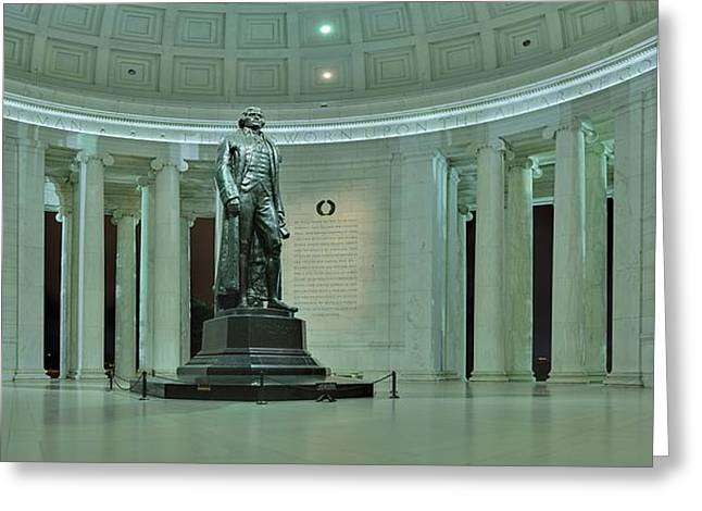 Inside The Jefferson Memorial Greeting Card by Metro DC Photography