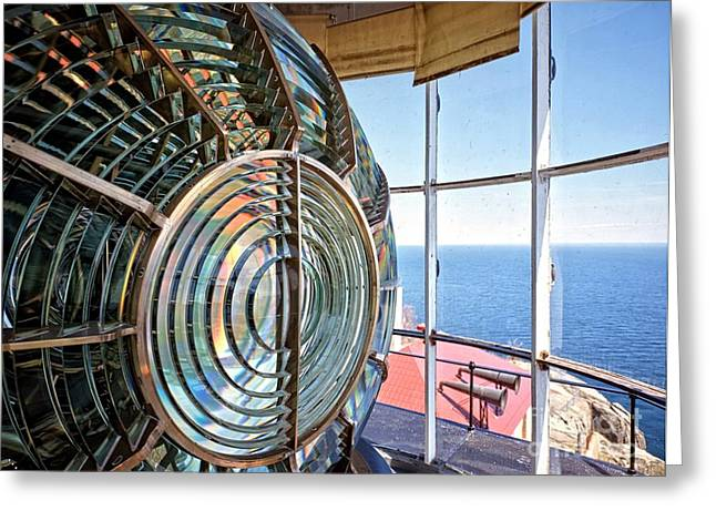 Lake County Greeting Cards - Inside the Lighthouse Greeting Card by Edward Fielding
