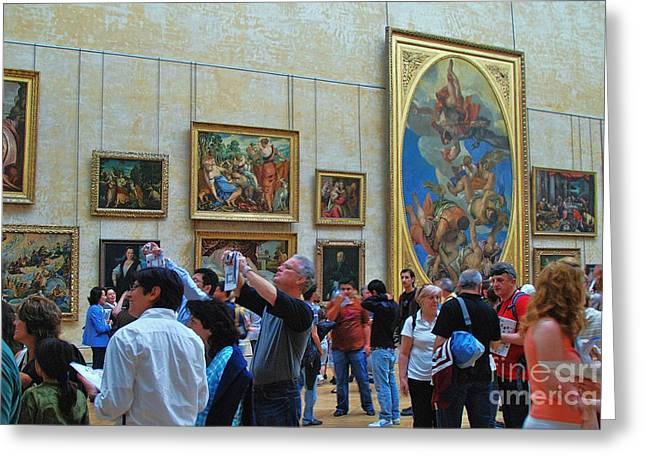 Most Visited Greeting Cards - Inside The Louvre 1 Greeting Card by Allen Beatty