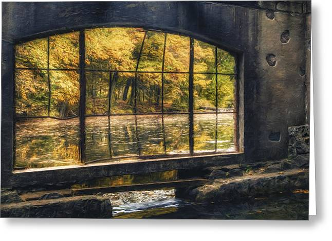Surreal Landscape Greeting Cards - Inside the Old Spring House Greeting Card by Scott Norris