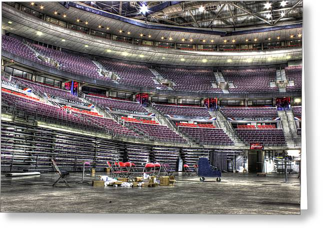 Detroit Pistons Digital Greeting Cards - Inside The Palace II Auburn Hills MI Greeting Card by B And G Art