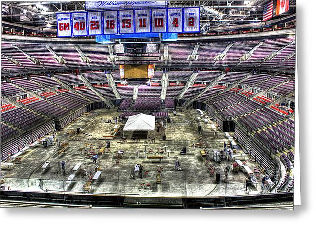 Detroit Pistons Digital Greeting Cards - Inside The Palace III Auburn Hills MI Greeting Card by B And G Art
