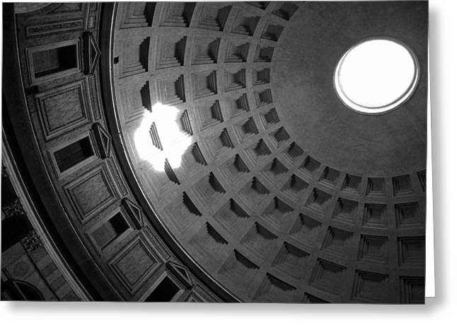 Oculus Greeting Cards - Inside the Pantheon Greeting Card by Valentino Visentini