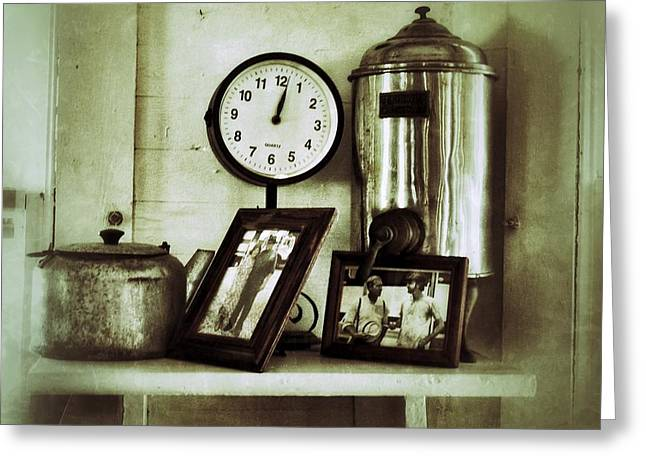 Inside The Whistle Stop Cafe Greeting Card by Patricia Greer