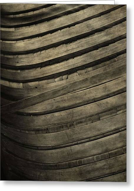 Carpenter Lake Greeting Cards - Inside The Wooden Canoe Greeting Card by Dan Sproul