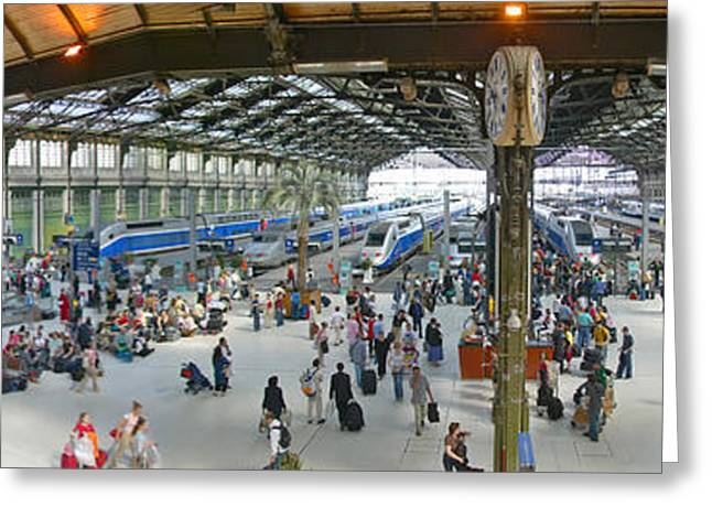 Gallic Greeting Cards - Inside Train Station, Nice, France Greeting Card by Panoramic Images