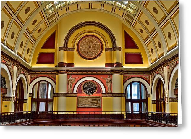 Nashville Greeting Cards - Inside Union Station Hotel Greeting Card by Frozen in Time Fine Art Photography