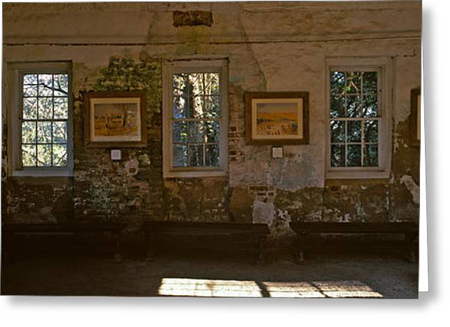 Slaves Photographs Greeting Cards - Inside View Of Slave Quarter, Middleton Greeting Card by Panoramic Images