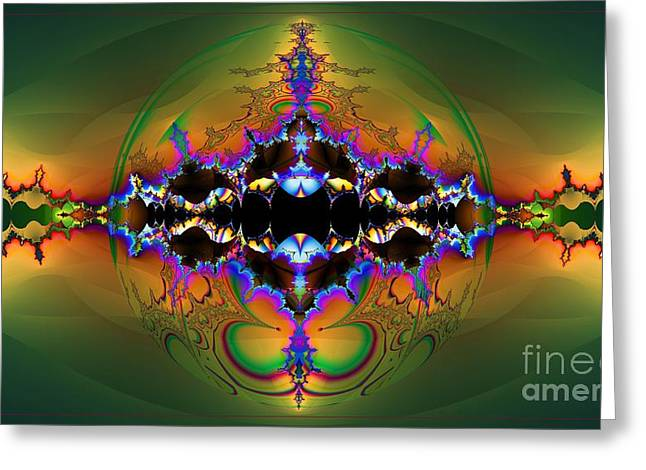 Fractal Orbs Greeting Cards - Insight Greeting Card by Elizabeth McTaggart