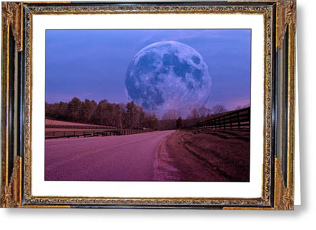 Inspiration in the Night Greeting Card by Betsy A  Cutler