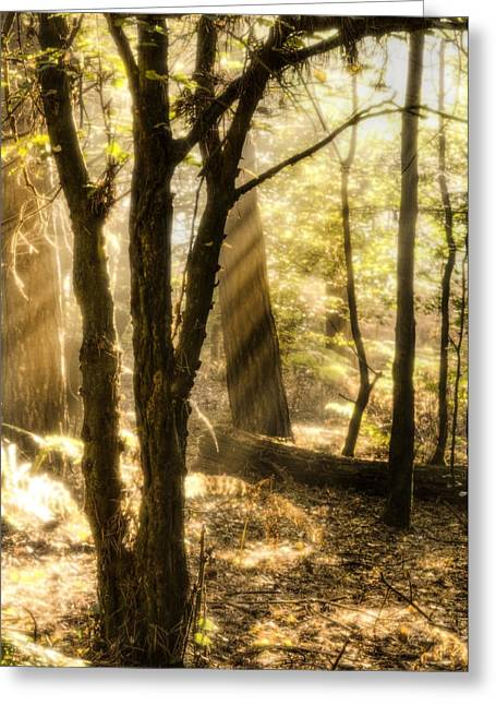 God Beams Greeting Cards - Inspiration Greeting Card by Matthew Gibson