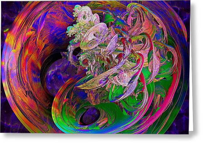 Fractal Globes Greeting Cards - Inspiration Greeting Card by Michael Durst