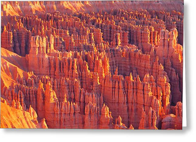Landforms Greeting Cards - Inspiration Point, Bryce Canyon Greeting Card by Panoramic Images