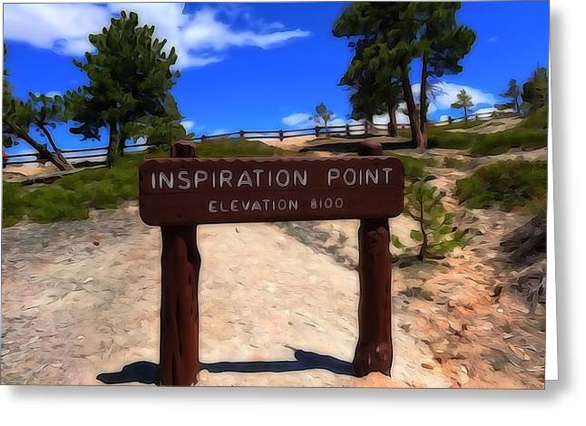 Inspiration Point Greeting Cards - Inspiration Point Greeting Card by Dan Sproul