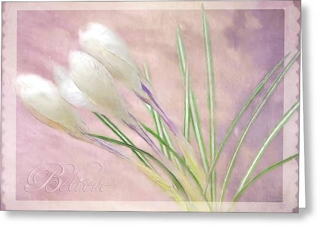 Garden Scene Digital Greeting Cards - Inspirational Art - Magic Is Believing Greeting Card by Jordan Blackstone