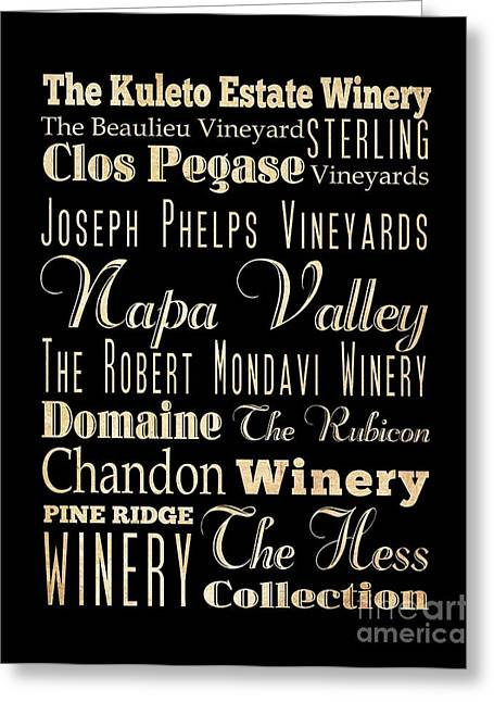 Robert Phelps Robert Phelps Art Greeting Cards - Inspirational Art- Napa Valley Wineries Greeting Card by Joy House Studio