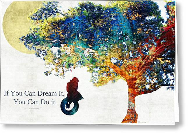 Inspirational Art - You Can Do It - Sharon Cummings Greeting Card by Sharon Cummings