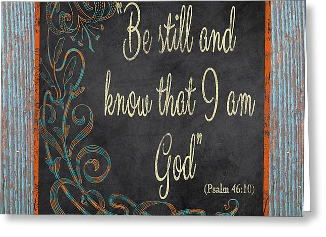 Scripture Digital Art Greeting Cards - Inspirational Chalkboard-B2 Greeting Card by Jean Plout