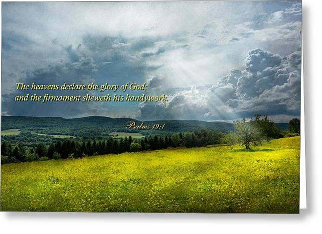 Inspirational - Eternal Hope - Psalms 19-1 Greeting Card by Mike Savad