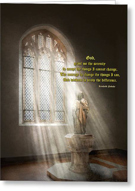 Believers Greeting Cards - Inspirational - Heavenly Father - Senrenity Prayer  Greeting Card by Mike Savad