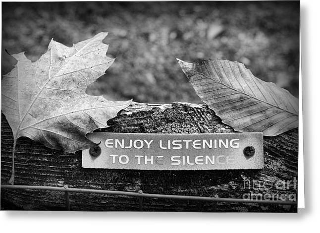 Inspirational Words To Live By In Black And White Greeting Card by Paul Ward