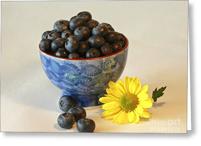 Inspired By Blue Berries Greeting Card by Inspired Nature Photography Fine Art Photography