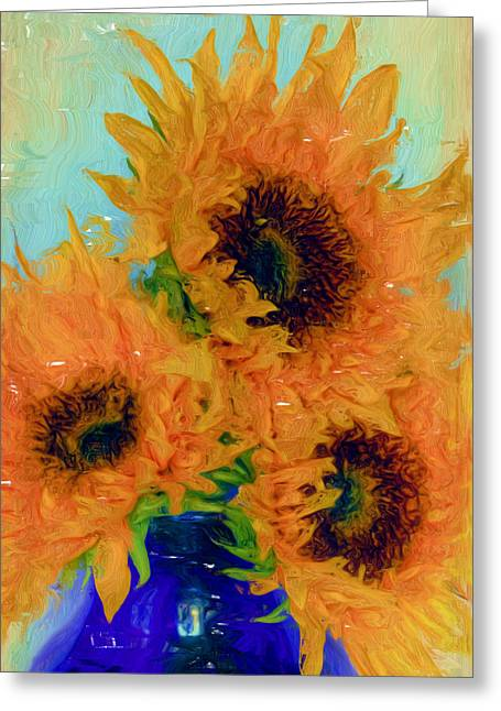Trio Greeting Cards - Inspired by Van Gogh - Digital Painting  Greeting Card by Heidi Smith