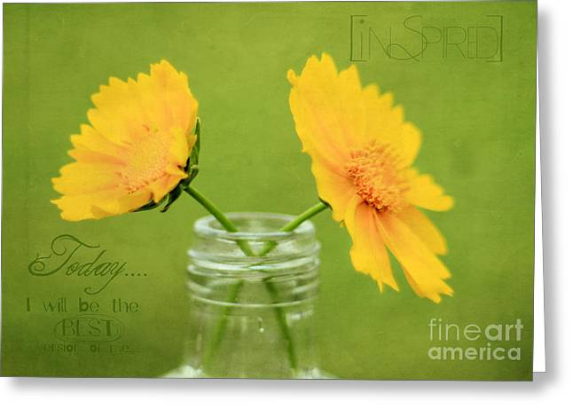 Still Life Photographs Greeting Cards - Inspired Greeting Card by Darren Fisher