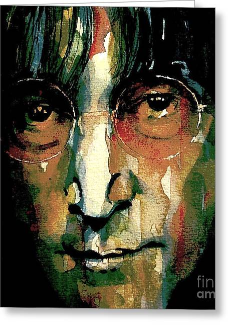 John Lennon Art Greeting Cards - Instant Karma Greeting Card by Paul Lovering