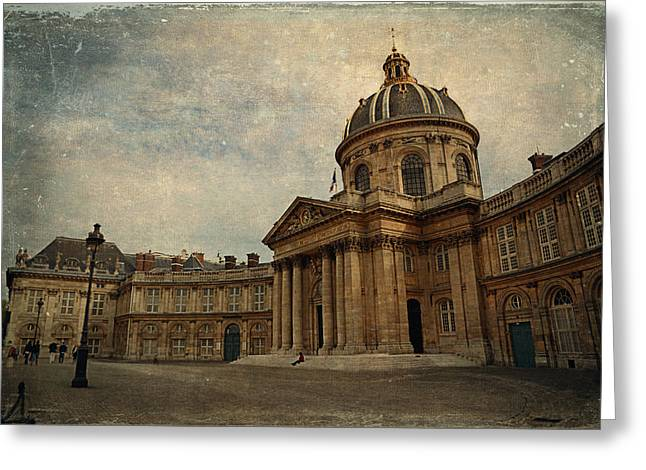 Cupola Digital Art Greeting Cards - Institut de France  Greeting Card by Maria Angelica Maira