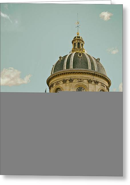 Cupola Greeting Cards - Institut de France - Paris Greeting Card by Mountain Dreams