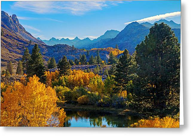 Bishops Peak Greeting Cards - Intake Lake View Greeting Card by Lynn Bauer