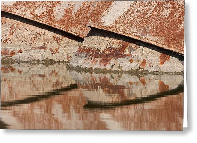 Beige Abstract Greeting Cards - Intake Pipes Greeting Card by Stuart Litoff