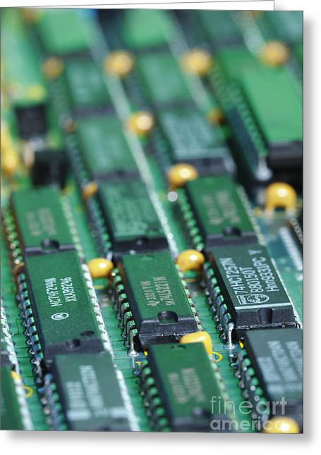 Pcb Greeting Cards - Integrated Circuits Greeting Card by GIPhotoStock